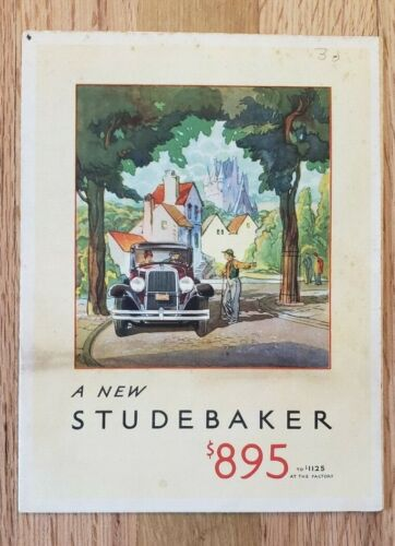 1930 Studebaker Six Sales Folder