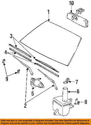 TOYOTA OEM 84-91 Camry Windshield Glass-Wiper Blade Insert 8521424H90