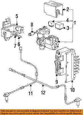 PORSCHE OEM 1995 928 ABS Anti-Lock Brake System-Control Module 928618120AX