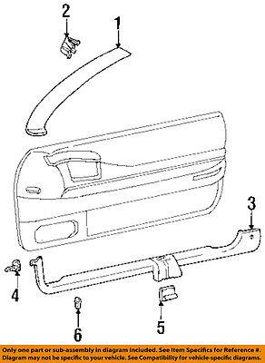Cadillac GM OEM 92-02 Eldorado Interior-Sill Trim Retainer 19152583
