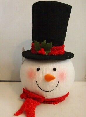 Snowman Head Christmas Tree Topper