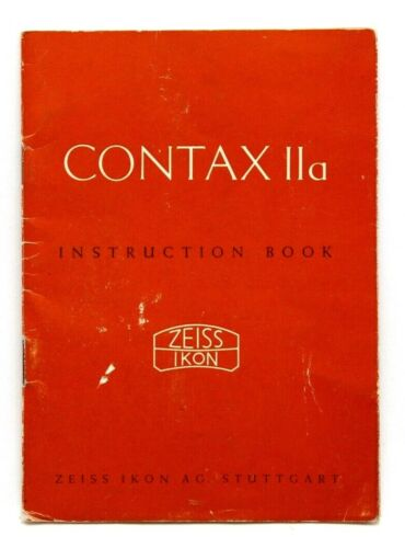 Excellent Contax IIa Instruction Book #P4332