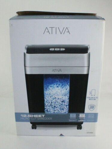 Ativa 12-Sheet Micro-Cut Shredder 6 Gallon Bin