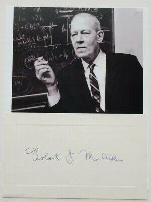 Robert S Mulliken Autograph Card Nobel Prize Chemistry Molecular Orbital Theory