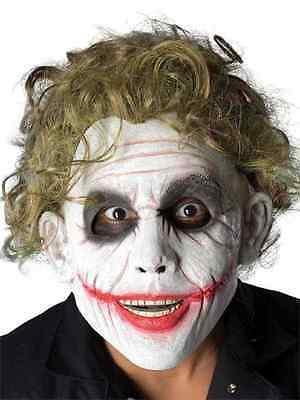 Joker Foam Latex Mask Batman Dark Knight Clown Villain Adult Costume Accessory