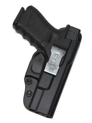 Concealment Holster - For Glock 19 23 32 (Gen 1,2,3,4) IWB Concealed Carry Gun Holster (Black Polymer)
