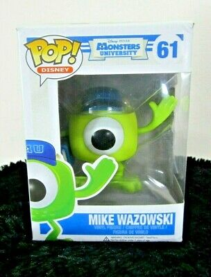 Funko Pop Disney Monsters University Mike Wazowski #61 Vinyl Figure Green New