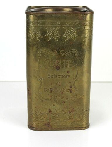 Department 56 - Best Arabica Plants Coffee Selection Collectible Brass Tin Can