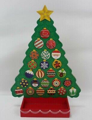 Melissa & Doug Countdown to Christmas Wooden Tree Holiday Advent Calendar 3571