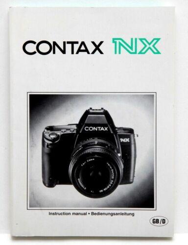 Near Mint Contax NX Instruction Manual in English/German #P4329
