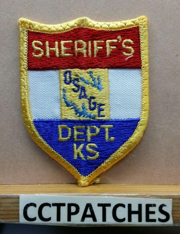 OSAGE COUNTY, KANSAS SHERIFF (POLICE) SMALL SHOULDER PATCH KS
