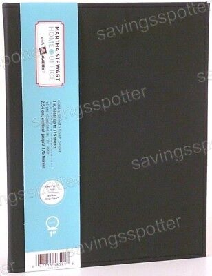 Martha Stewart Avery Smooth Finish Binder 1 Gap-free 3 Ring Small Mini Black