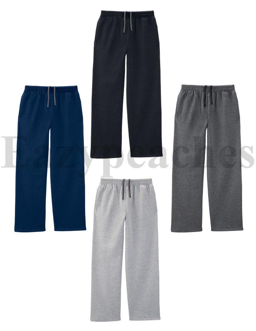 Fruit of The Loom - Mens OPEN BOTTOM POCKET Sweatpants, Swea