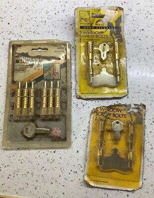 brass sash window locks NEW unopened