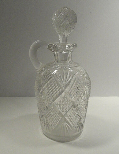 Large Pressed Glass Cruet Decanter