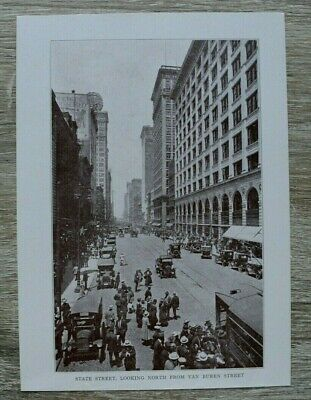 IL) Chicago Illinois USA 1920 State Street Straßenansicht Auto Cars Tramway ++