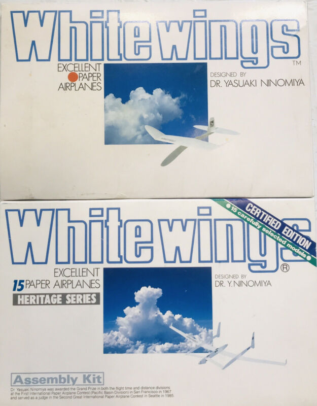 Whitewings Paper Airplanes Certified Heritage 30 planes!!