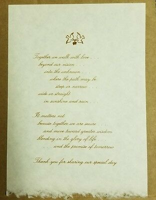 Lot of 10 Beautiful Wedding Thank You For Sharing Our Special Day Letters $5.00