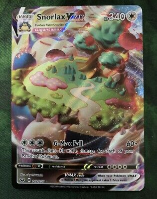 Relaxo Vmax 142//202 NM SS1-Schwert und Schild Fullart De Snorlax Pokemon TCG