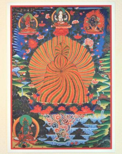 Tibetan Thangka Padmasambhava Guru Rinpoche in Rainbow Body Buddhist Buddha