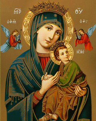 Virgin Mary OUR LADY OF PERPETUAL HELP Catholic Religious 8x10 Canvas Art...