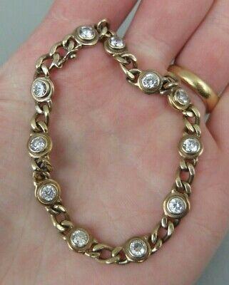 bracelet ancien en argent massif vermeil et pierres antique solid silver bangle