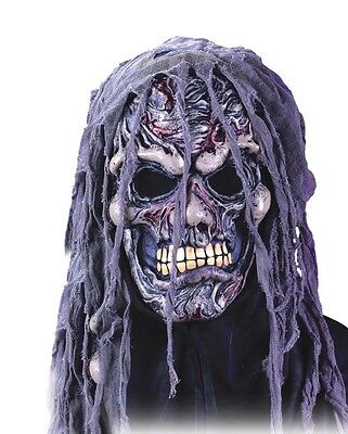 Crypt Shrouds Zombie Undead Mask Adult Latex Halloween Costume - Crypt Halloween Costume