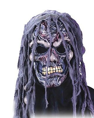 Crypt Halloween Costume (Crypt Shrouds Zombie Undead Mask Adult Latex Halloween Costume)