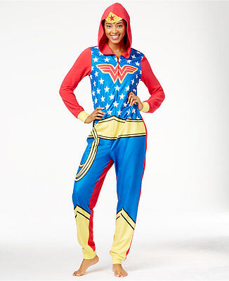 New! Women's Briefly Stated Wonder Woman Hooded Jumpsuit - Wonder Woman Jumpsuit