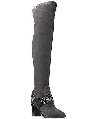 Michael Kors MK Charcoal OTK Over-The-Knee Tall Boots Shoes Heels Pumps 6 36 NIB