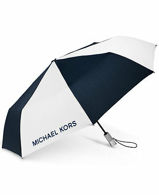 MICHAEL Kors NOVELTY Umbrella-Super cute!! Navy/White/Silver Lucite Handle NWT!