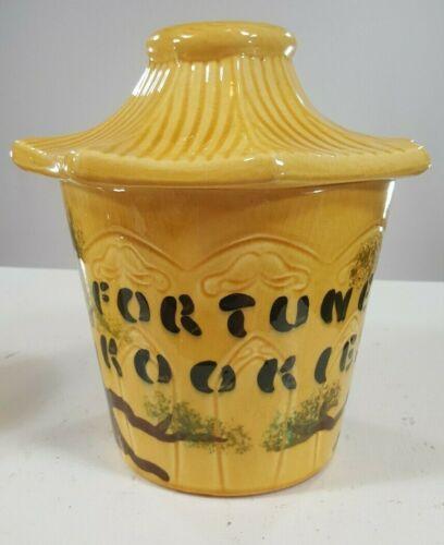 Vintage Cookie Jar Fortune Cookies Unique  1967 De Forest Cal. Collectible RARE