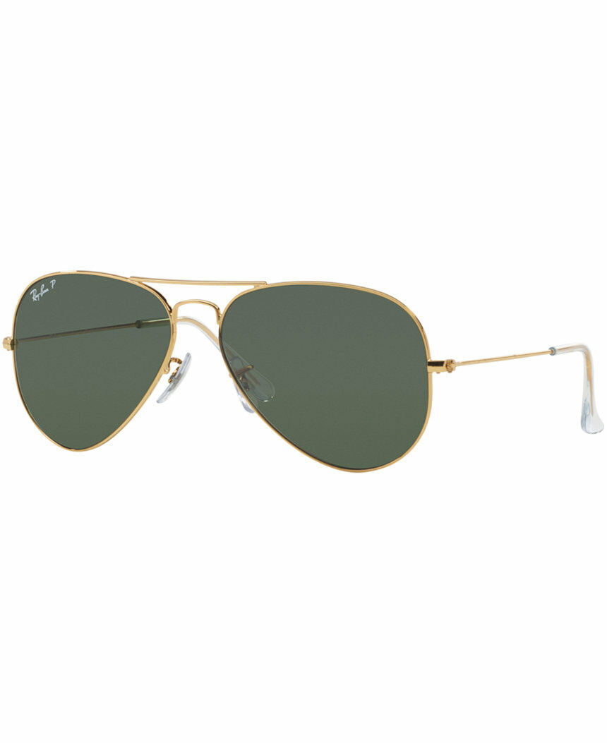 Ray Ban RB3025 001/58 Aviator Gold Frame Polarized Green 55mm Lens Sunglasses