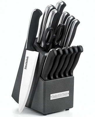 Tools of the Trade Fine Edge Stainless Steel 15 Piece Cutlery Knife Set NEW