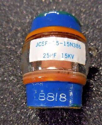 Jennings Technologies Jcsf-25-15n386 Vacuum Fixed Capacitor 25pf 15kv 18a 2