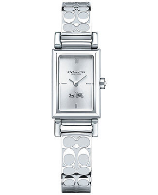 NWT Coach Women's MADIS SIGNATURE ETCHED Stainless Steel Bangle Watch 14502121