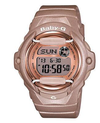 Casio BABY-G BG169G-4 Whale Series Women's Pink Champagne Resin Digital Watch