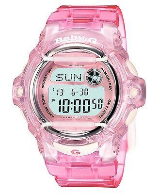 Casio BABY-G BG169R-4 Whale Series Women's Clear Pink Resin Digital Watch