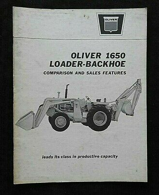 1960s Oliver 1650 Loader Backhoe Tractor Comparison Jd Ih Mf Ford Dealer Manual