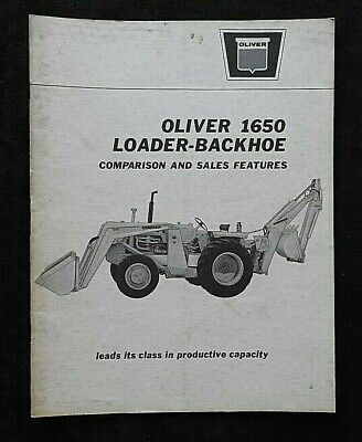 1960s Oliver 1650 Loader Backhoe Tractor Comparison Jd Ih Mf Ford Dealer Manual