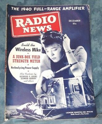 1939 Radio News Magazine Build The Wireless Mike The 1940 Full Range Amplifier