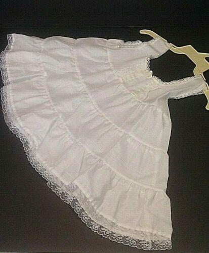 VTG baby girl white sleeveless slip under piece size 1T lace trim