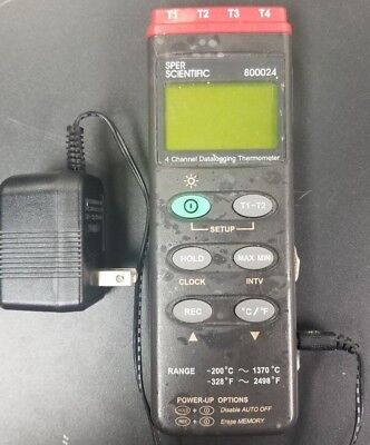 Sper Scientific 800024 Four Channel Thermometer Sd Datalogger With Adapter