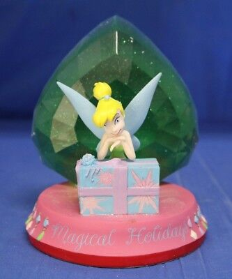 Tinker Bell Magical Holiday Christmas Present Light-up Figurine Disney Peter Pan