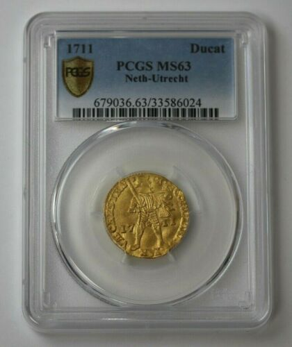 1711 Ducat Gold Netherlands Utrecht PCGS MS 63 #68316JR