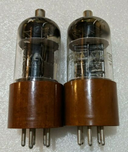 Matched Pair Sylvania 5933 / 807W Tubes NOS Black Plate Dual Top D Getters