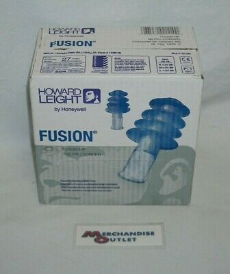 Howard Leight Fusion Fus30-hp Reusable Earplugs With Cord - 100 Pairs
