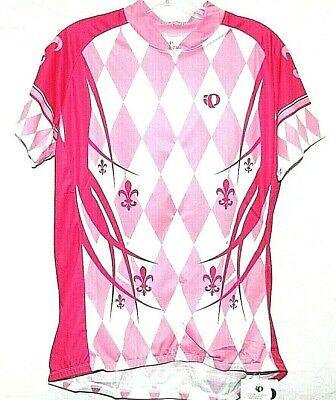 NWT Pearl Izumi Select LTD Short Sleeve Cycling Jersey Women s Sz XL  Pink White a208641ee