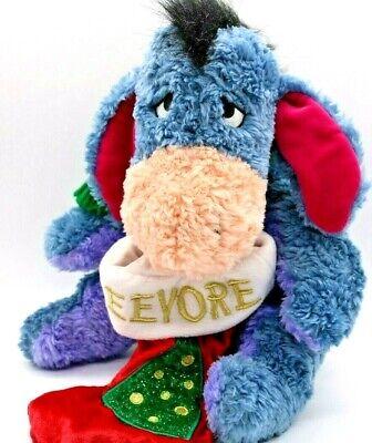 Eeyore Plush Christmas Stuffed Animal Stocking Winnie Pooh Disney Scarf 2001