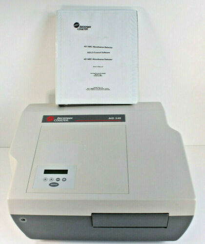 Beckman Coulter AD 340c Microplate Reader Analyzer Absorbance Detector & Manual